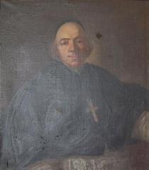 Château de la Ferté-sur-Grosne, ancienne abbaye cistercienne - English:   Portrait of an abbot of de la Ferté.