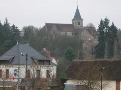 Eglise - Français:   Rogny-les-Sept-Écluses; l'église vue depuis le sud-sud-ouest.