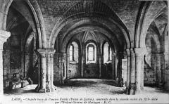 Ancien évéché et chapelle - Français:   sur une carte ancienne.