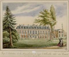 Ancienne manufacture des Rames - Français:   Manufacture des Rames, corps d'habitation côté cour