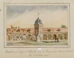 Ancienne manufacture des Rames - Français:   Manufacture des Rames, la basse cour, le pigeonnier