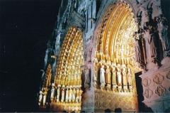 Cathédrale Notre-Dame - Français:   1999, première coloration de la cathédrale d'Amiens