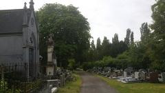 Cimetière de la Madeleine - Français:   Allée du cimetière