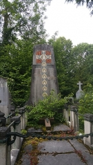 Cimetière de la Madeleine - Français:   Tombe de famille décorée d\'une mosaïque
