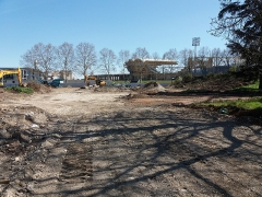 Stade municipal dit stade Gerland - Français:   Construction d\'un hôtel, à l\'angle de l\'avenue Tony Garnier.