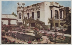 Villa dite Villa Lafont - Français:   Villa Lafont façade et jardin 1947