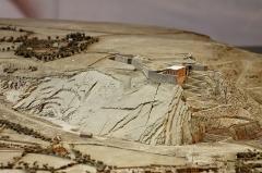 Batterie d'artillerie du Roule -  Plan-relief du port de Cherbourg dans son état de 1872. Plan-relief construit de 1813 à 1819 et actualisé de 1863 à 1872. Échelle 1/600e