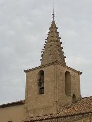 Eglise paroissiale Saint-Amand - Français:   Église de Saint-Amand de Sénas - Clocher vu du SE - Bouches du Rhône - France