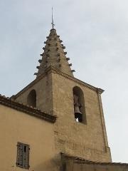 Eglise paroissiale Saint-Amand - Français:   Église de Saint-Amand de Sénas - Clocher vu du SO - Bouches du Rhône - France