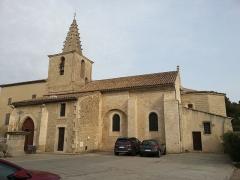 Eglise paroissiale Saint-Amand - Français:   Église de Saint-Amand de Sénas - Vue d'ensemble du sud - Bouches du Rhône - France