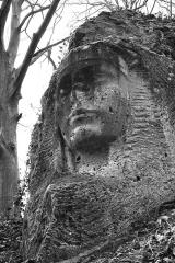 Carrière du Chauffour - Français:   Sculpture dans la craie, hôpital militaire de Thiescourt.