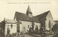 Eglise Saint-Loup - Français:   l eglise de thuisy dans les années 60