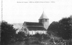 Eglise - Français:   Carte postale ancienne  L\'église de Giey-sur-Aujon, Haute-Marne, France