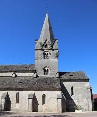 Eglise - Français:   Extérieur de l\'église Notre-Dame de l\'Assomption à Isômes (52). Tour-clocher et flanc sud.