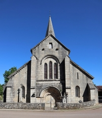 Eglise - Français:   Extérieur de l\'église Notre-Dame de l\'Assomption à Isômes (52). Façade occidentale.