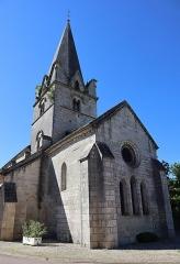 Eglise - Français:   Extérieur de l\'église Notre-Dame de l\'Assomption à Isômes (52). Chevet.