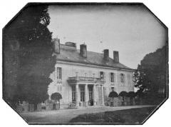 Château du Piple - Français:   Le château du Piple, daguerréotype par Jean-Henri Hottinguer.