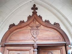 Eglise Saint-Saturnin - Français:   Portail de l\'église Saint-Saturnin de Nogent-sur-Marne (détail)