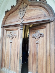 Eglise Saint-Saturnin - Français:   Portail de l\'église Saint-Saturnin de Nogent-sur-Marne