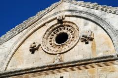 Chapelle et Tour Saint-Gabriel - Français:   France - Provence - Chapelle Saint-Gabriel de Tarascon - Oculus et tétramorphe