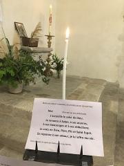 Eglise Saint-Martin - Français:   Cierge renouvellement promesse baptême Collégiale Saint-Martin de Bollène