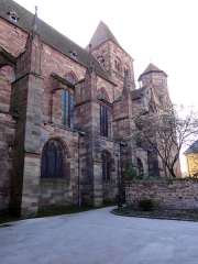 Ancienne abbaye bénédictine - Français:   Alsace, Bas-Rhin, Abbatiale Saint-Étienne de Marmoutier (PA00084783, IA67007715). Façade nord.