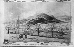 Champ de bataille de l'Hartmannswillerkopf dans la forêt communale (également sur communes de Hartmannswiller, Soultz-Haut-Rhin, Wattwiller et Wuenheim) - Français:   sur une carte postale ancienne.