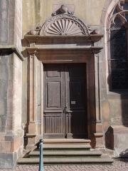 Eglise catholique de l'Invention de la Sainte-Croix - Français:   Alsace, Haut-Rhin, Église Sainte-Croix (XIIIe-XVe-XVIe) de Kaysersberg (PA00085477, IA68000563): Portail latéral sud.