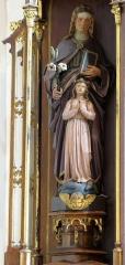 Ancienne église des Augustins, dite de la Providence - Français:   Alsace, Haut-Rhin, Ribeauvillé, Église du Couvent des Augustins (XIVe-XVe-XVIIIe), 3 rue de l\'Abbé-Louis-Kremp. (PA00085586, IA68006914). Autel secondaire de la Vierge de Pitié (1880):  Statue \