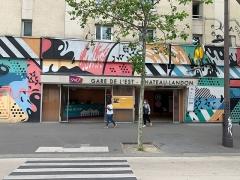 Gare de l'Est - Français:   Accès Gare de l\'Est - Château-Landon à Paris redécoré par \