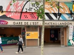 Gare de l'Est - Français:   Accès Gare de l\'Est - Château-Landon, Paris, déco par ONOFF crew.
