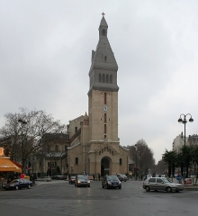 Eglise Saint-Pierre de Montrouge - Français:   Église Saint-Pierre-de-Montrouge, façade occidentale.