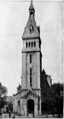 Eglise Saint-Pierre de Montrouge - English:   Photo, A. Lévy.  Church of St Pierre de Montrouge, Paris. (Vaudremer). Illustration from 1911 Encyclopædia Britannica, article Architecture.