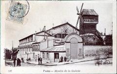 Moulin de la Galette - Français:   sur une vue du début du XXe siècle.