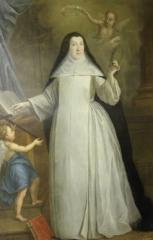 Propriété des Meissonnier - English:   Anne Geneviève de Saint-Hermine de La Laigne, prioress of Saint Louis de Poissy priory
