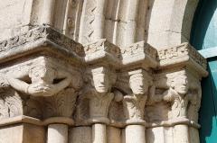 Eglise Notre-Dame - Français:   La collégiale Notre-Dame à Lamballe (Côtes d\'Armor). Ébrasement gauche du portail occidental.