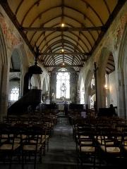 Chapelle de Saint-Tugen et abords - Français:   Intérieur de la chapelle Saint-Tugen en Primelin (29). Nef.