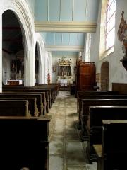 Eglise Saint-Martin - Français:   Église Saint-Martin de Moutiers (35). Bas-côté sud.