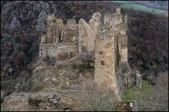 Ruines du Château fort de Blot-le-Rocher, dit Château Rocher - Français:   Château-fort de l\'An Mil, Château-Rocher en Auvergne est une ruine magnifique.