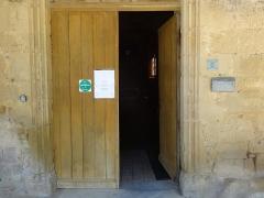Eglise - Français:   Porte de l\'église Saint-Gilles de Mont-d\'Astarac.
