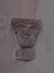 Eglise - Français:   Un des chapiteaux de l\'église Saint-Gilles de Mont-d\'Astarac.