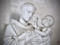 Eglise Saint-Julien - Français:   Buste de Saint-Antoine de Padoue portant l\'Enfant Jésus en l\'église Saint-Julien d\'Osmery