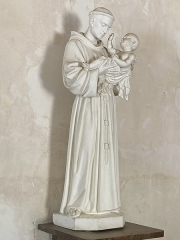 Eglise Saint-Julien - Français:   Statue de Saint-Antoine de Padoue en l\'église Saint Julien d\'Osmery
