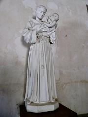 Eglise Saint-Julien - Français:   Statue de Saint-Antoine de Padoue en l\'église Saint-Julien d\'Osmery