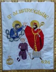 Eglise Notre-Dame - Français:   Bannière de procession  de Saint Austrégésile brodée pour le jubilé de 2000 ans de la naissance de Jésus