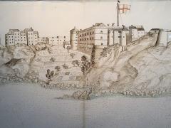 Citadelle et palais du Gouverneur, partiellement aménagé en Musée d'Ethnographie - Français:   Dissegnu intitulatu \