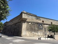 Citadelle et palais du Gouverneur, partiellement aménagé en Musée d'Ethnographie - Français:   Le bastion San Ghjuvanni, en italien San Giovanni, construit par les génois. Citadelle de Bastia, Corse