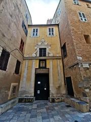Eglise Sainte-Croix - Français:   Oratoire Sainte-Croix (déc. 2020).  L\'oratoire Sainte-Croix est classé au titre des monuments historiques depuis 1931. L'intérieur abrite le \