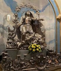 Eglise Sainte-Marie, ancienne cathédrale - Français:   A statua d\'argentu di a Madonna, si trova in a catedrale Santa Maria di Bastia, in Citatella. Fatta da Gaetano Macchi (XIXu seculu)