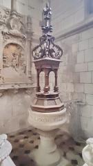 Eglise - Français:   Neufchâtel-en-Bray - L\'église - Fonts baptismaux